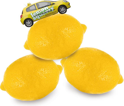 Car and three lemons